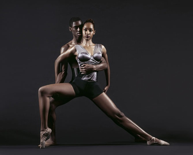 George Mason University School of Dance students Donyae Bush and Charlotte Samaroo.