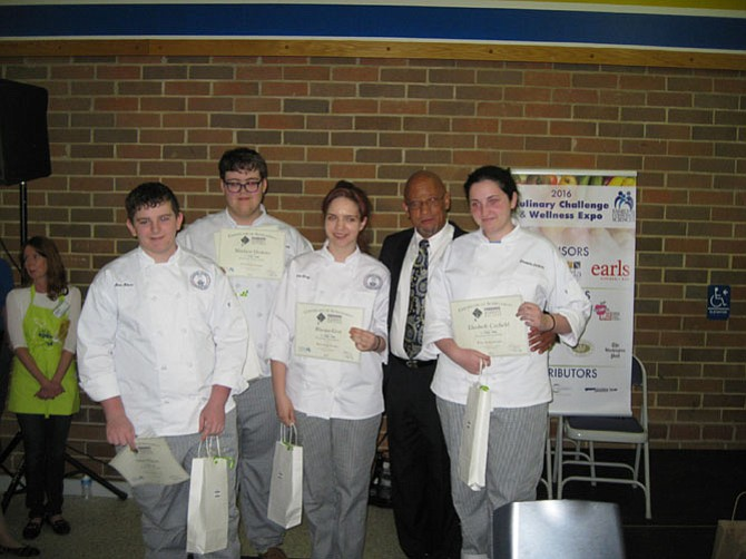 The winner of the first place award in the culinary challenge went to Marshall Academy in Falls Church/McLean. Each student received a $200 scholarship.
