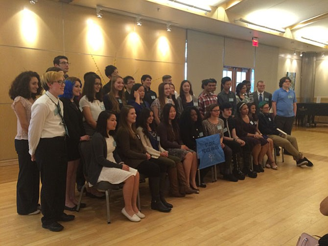 Student Peace Award recipients pose after the ceremony.