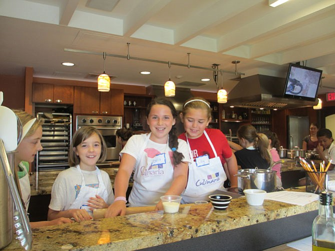 Campers at Culinaria Cooking School get to be creative while learning cooking skills.