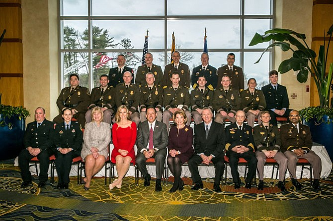 The Montgomery County Chamber of Commerce honored 12 Valor Award recipients at its Public Safety Awards Luncheon on March 11.