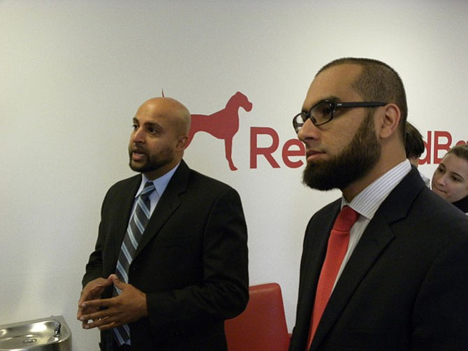 From left, Ahsan Saeed and Bilal Malik discuss the lessons they learned and obstacles they overcame in opening the second location of Reserved Barking in Springfield.