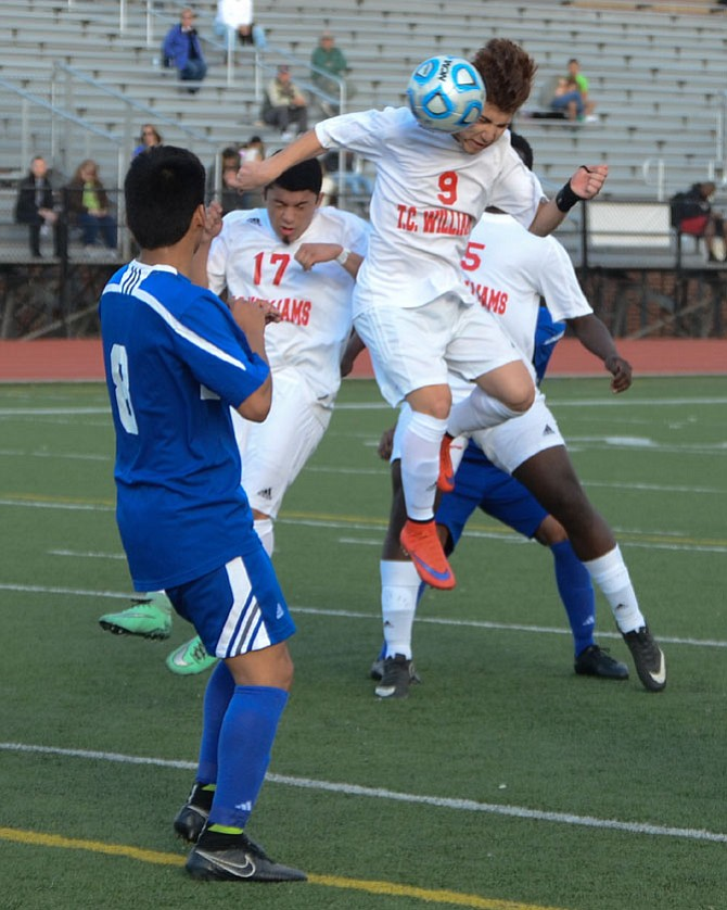 Maverick Argueta and the T.C. Williams soccer team defeated Gar-Field 2-1 on March 17.