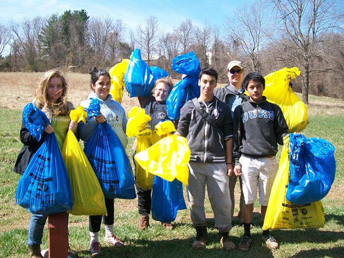 A clean up crew at work: The annual clean up of Difficult Run stream valley will be held  on the morning of April 9.