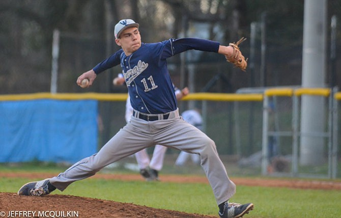 Washington-Lee sophomore pitcher Ryan Edelstein earned the win against West Potomac on Monday, allowing four earned runs in six innings.