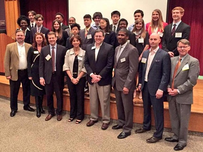 Young Entrepreneurs Academy (YEA!) Arlington students with investor panelists