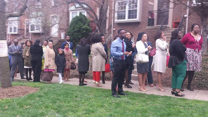Alfred Street Baptist Church members and visitors lined up outside of the church, waiting to attend the 10 a.m. worship service on Easter Sunday.