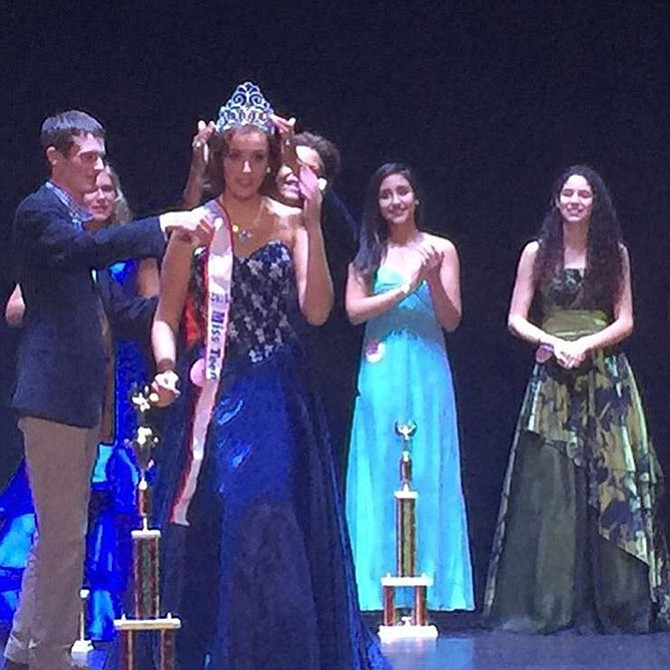 Out of more than 100 finalists, Elisabetta Cantatore, a resident of Great Falls and sophomore at George Mason University, made it to the top 10 and was then crowned Miss Teen Virginia.