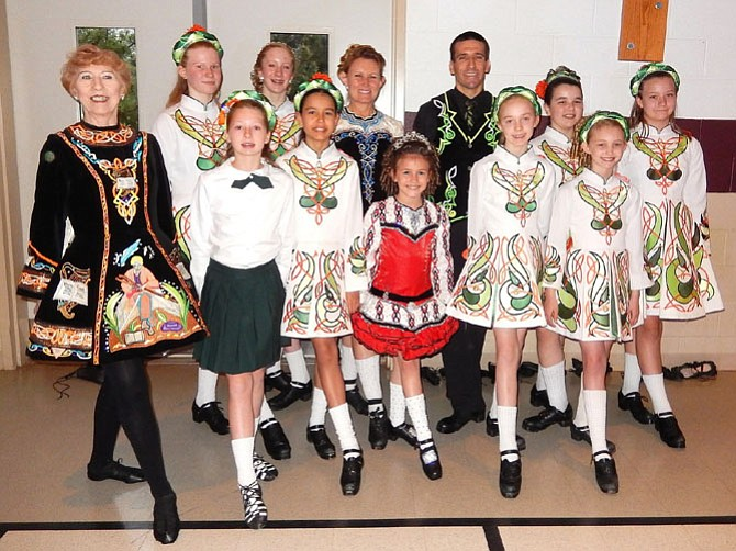 Members of the O'Neill James School of Irish Dance posed before performing at last year's Showcase.