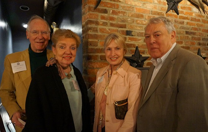 Gant and Fran Redmon join Union Street Public House owners Jan and Jay Test at the Community Lodgings 11th Annual Spring Forward fundraiser April 10 at the Union Street restaurant.