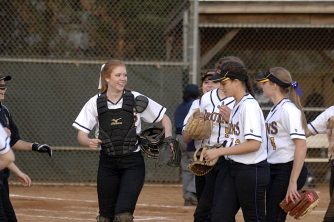 The Lake Braddock softball team, seen earlier this season, improved to 10-0 with a win over T.C. Williams on Tuesday.
