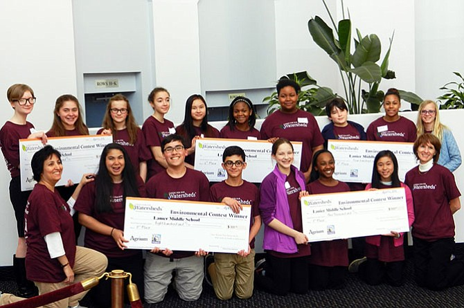 Lanier Middle School students earn top places at environmental showcase.