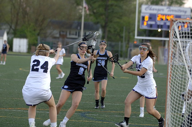 Centreville junior Elizabeth Murphy scored seven goals against Chantilly on Monday.