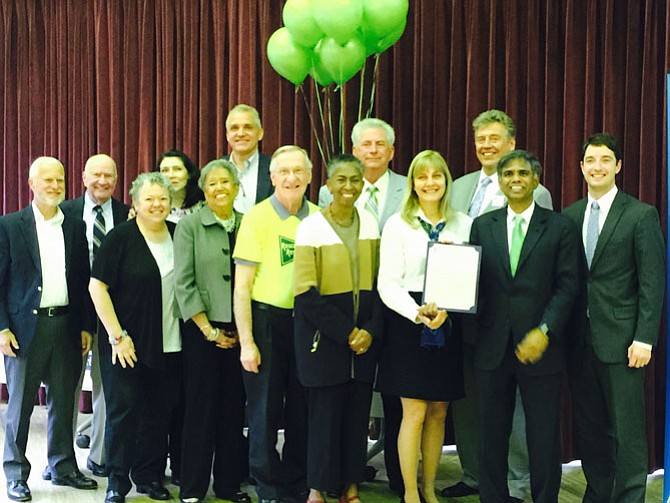 Rescue Reston's Board of Directors with speakers on Sunday night at the Reston Community Center, Hunter Woods.