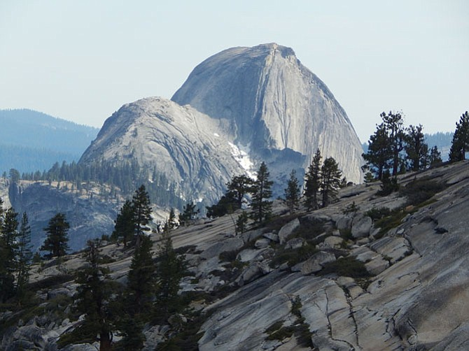 """""""Olmstead Point – Half Dome,"""" an iconic scene in Yosemite National Park, California. This photo will be on display at Katie's Coffee through May 31, 2016"""