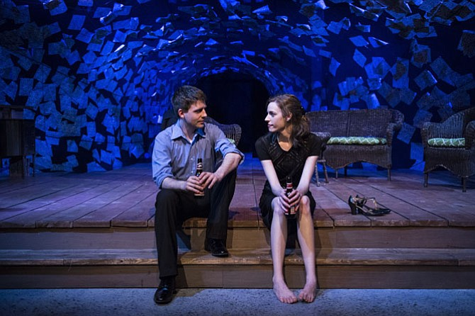 "Sam Ludwig and Katrina Clark in ""Proof"" at 1st Stage in Tysons Corner."