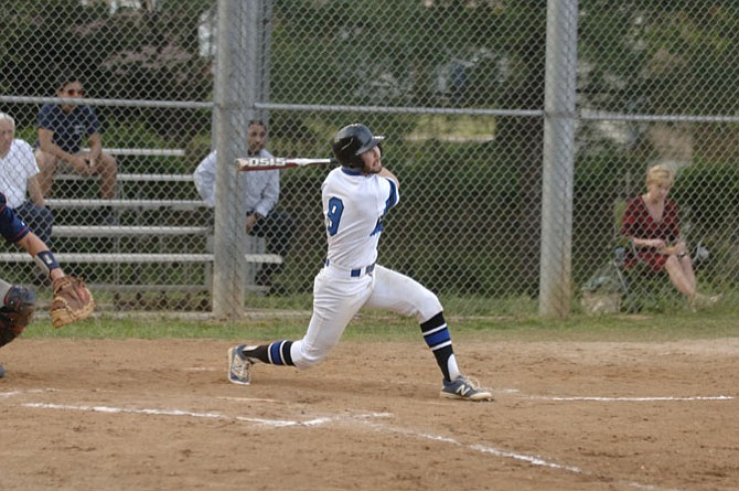 West Potomac left fielder Patrick Aitken had three doubles against Woodson on Tuesday.
