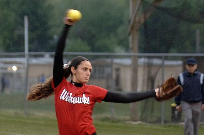 Katie Vannicola and the Madison softball team are in first place in Conference 6.