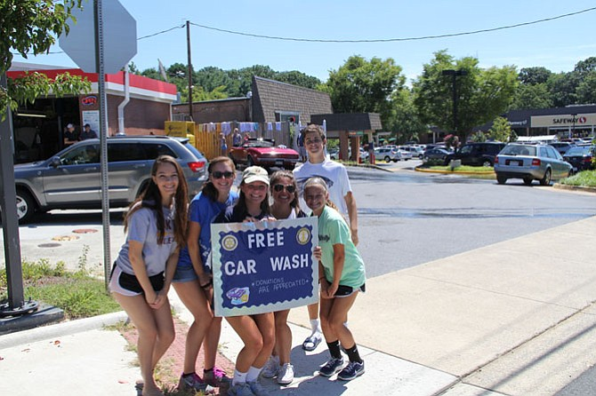 Great Falls Interact will hold fundraising events, such as car washes, to raise $2,500 for their summer service project with Habitat for Humanity in Lynchburg, Va.