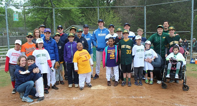 "Children with mental and physical disabilities were able to take the field April 30 as the Fort Hunt Little League hosted its first ""Challenger"" baseball game at Hollin Hall fields."