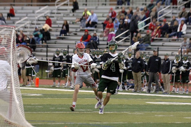 Langley senior Jon-Michael Duley scored three goals against McLean on May 5 in the opening round of the Conference 6 tournament.