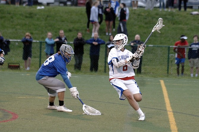 T.C. Williams senior attackman Phil Reilly scored four goals against West Potomac on Monday.