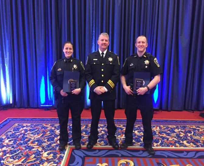 Officer Ara Post, Deputy Chief Dan Janickey, and Officer Brad Reedy.