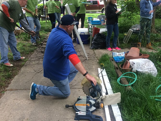 Rebuilding Together Alexandria volunteers provide free home repairs for low-income homeowners.