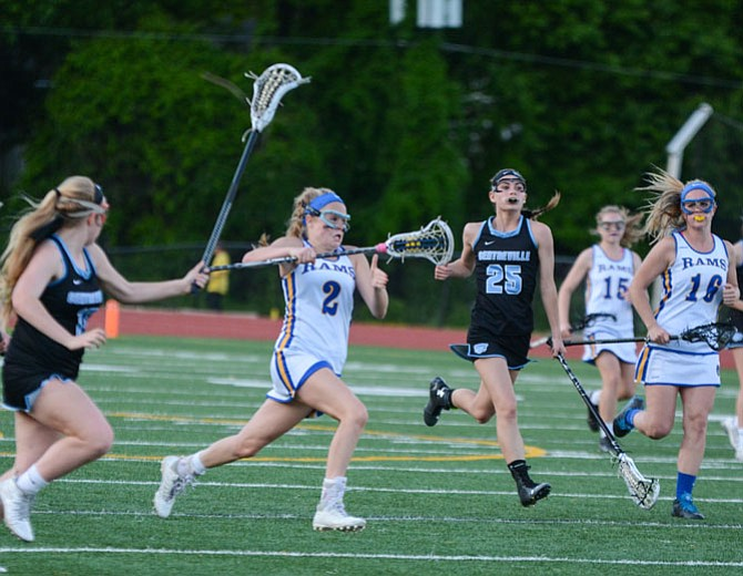 Taylor Caskey (2) and the undefeated Robinson girls' lacrosse team will host one-loss Langley tonight in the 6A North region quarterfinals.