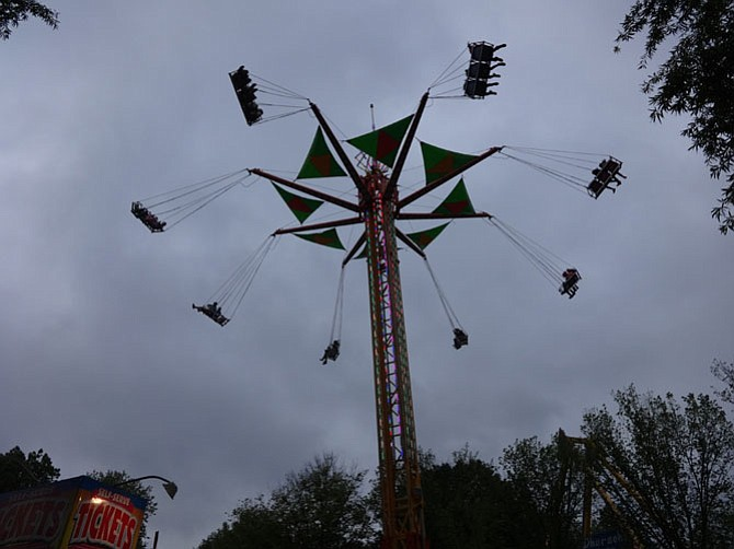 A ride at McLean Day on rainy Saturday, May 21.