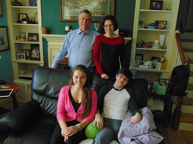Dave and Catherine Voorhees with their children Marien and John.