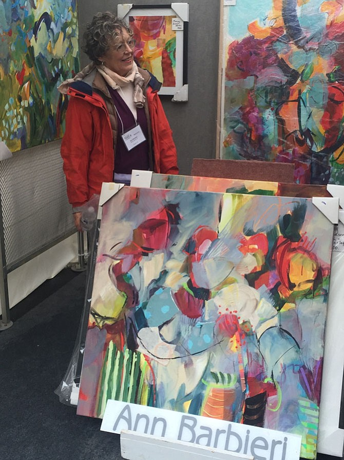 Ann Barbieri, of Reston, was one of 200 artists who exhibited her paintings at the Northern Virginia Fine Arts Festival 2016 at Reston Town Center.