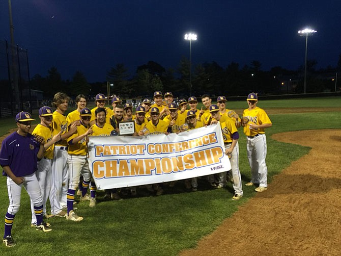 The Lake Braddock baseball team won the Conference 7 championship on May 20.