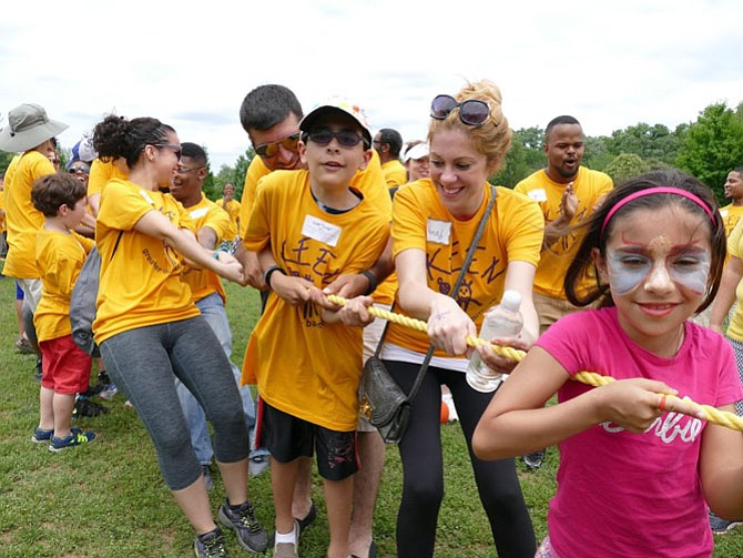 A game of tug-of-war from last year's KEEN Sportsfestival