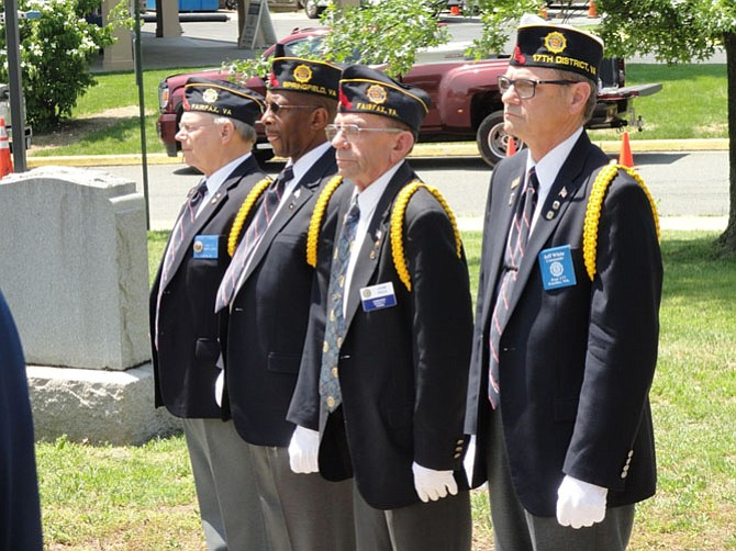 Veterans at the Greater Springfield Chamber of Commerce Memorial Day Commemoration at American Legion Post 176 in Springfield.