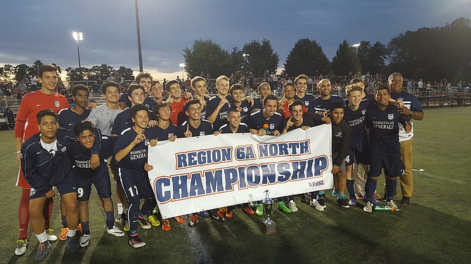 The Washington-Lee boys' soccer team won its first region championship since 1972 with a 3-0 victory over Yorktown on Monday.