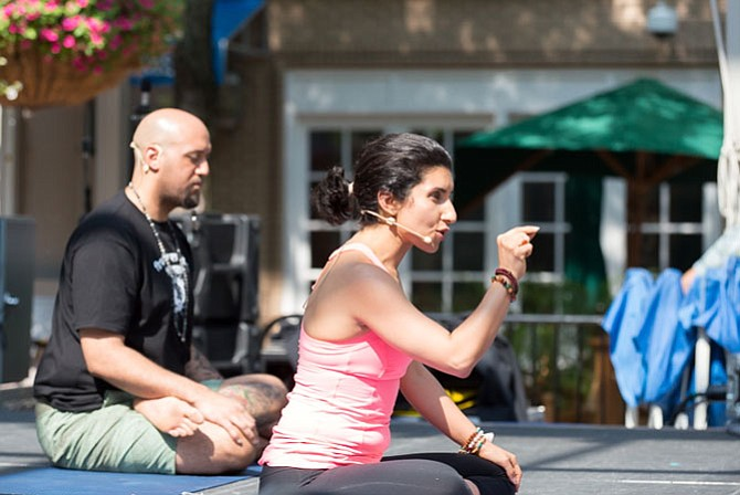 Maryam Ovissi taught her first yoga class at the YMCA of Reston. She now has Beloved Yoga studios in Reston and Great Falls. Ovissi founded the annual yoga festival that will take place this Sunday in Reston.