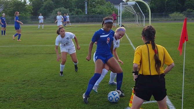 Claire Constant and the T.C. Williams girls' soccer team fell to Battlefield 2-0 in the 6A North region final on June 3.