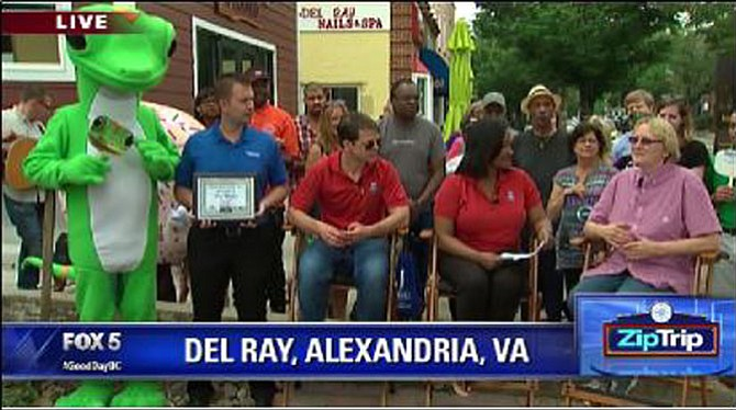 Pat Miller on Fox5's ZipTrip to Del Ray.