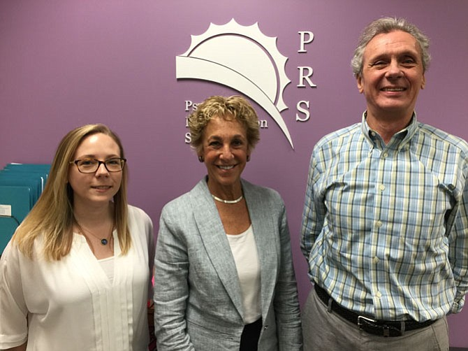 Caryline Kelly, Wendy Gradison of Vienna, and Tom Schuplin, of Alexandria, work with the McLean-based nonprofit PRS to help individuals facing life crises or mental illness.