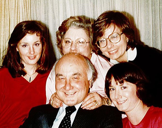 Bill McNamara with his wife Pauline and daughters Mary Martha, Kathleen and Maureen.
