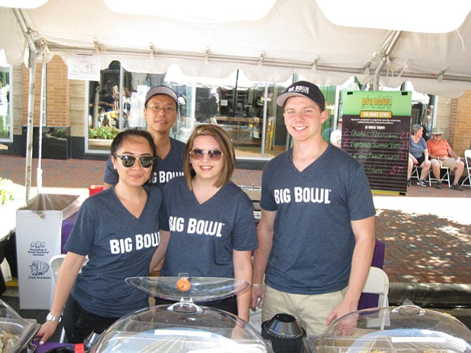 The Big Bowl booth with Nikki Akol, Heather Cooper, Leif Markee and Kevin Cha.