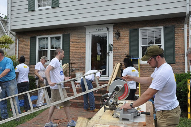 Rebuilding Together Arlington/Fairfax/Falls Church and Lowe's Heroes employee volunteers complete renovations for Arlington homeowners on June 16.