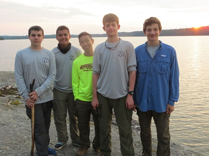 From left: The Scouts of BSA Sully District Troop 577, Northern Tier Patrol D 2015 are James Conard, Garrett Lopes, Albert Pan, Chase Zimmermann, and Noah Desmond.