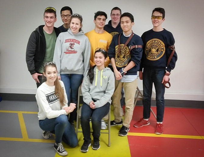 Rifle Team members celebrate competing in the Area 5 Championship, and thank the Izaak Walton League for inviting them to shoot the match at its new facility.