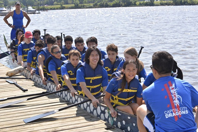 "The Capital City Dragons is a dragon boat club for youth ages 12 – 18. This gang are ready for a practice run from the Anacostia Community Boathouse in southeast Washington. Toan Pham stands at the back of the boat, in command as steerer and coach. Although he has been involved with the sport for some 15 years, Pham says he is ""still learning"" and loves to help the next generation develop their physical skills, their sense of adventure and the spirit of teamwork."