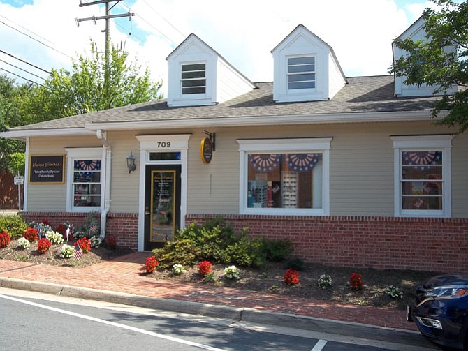 "Dr. Finley Family Eye Care, 709 Pine Street, won the ""Most Patriotic"" award in Herndon's annual Patriot Challenge businesses decoration contest."