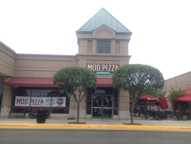 The new MOD Pizza located at Reston's Plaza America opened on Friday, July 1. Guests can choose specialty pizzas or create their own with a range of toppings.