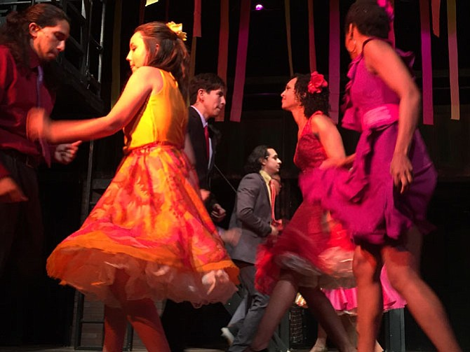 "The LTA cast in rehearsal for ""West Side Story,"" which will be presented July 23 to Aug. 13."