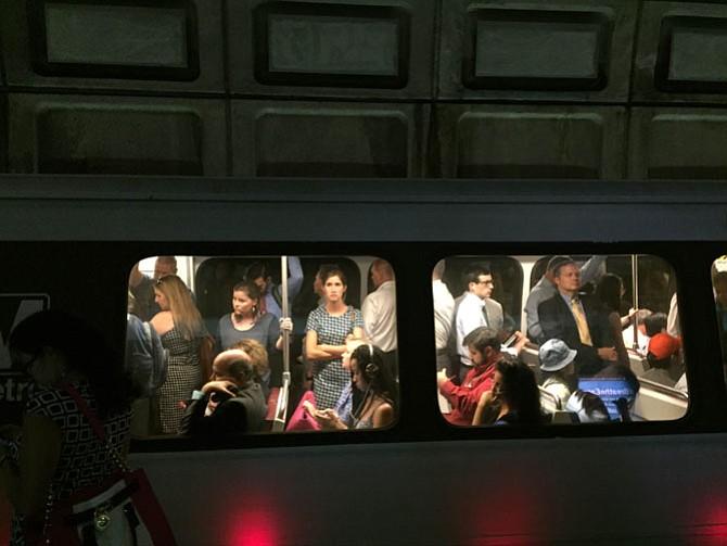 Westbound Orange Line train.